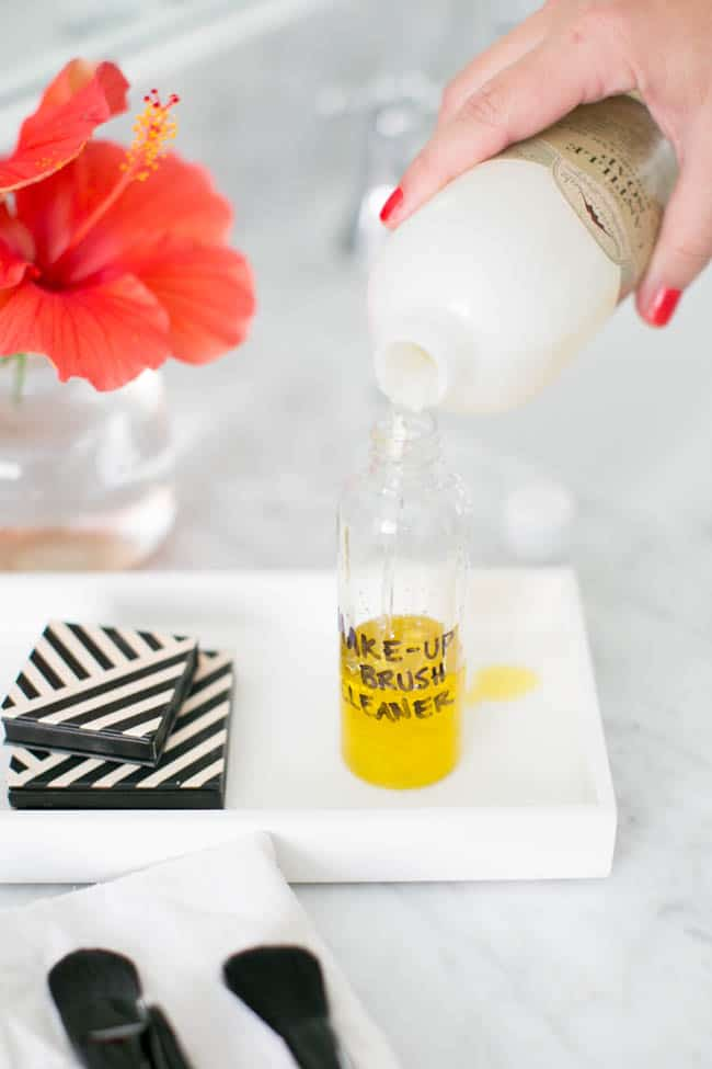 How to clean your makeup brushes with DIY brush cleaner