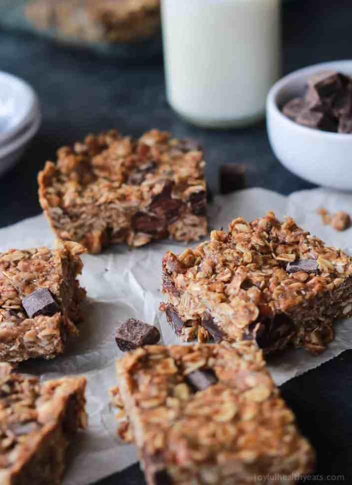 Peanut Butter Chocolate Bars by Joyful Healthy Eats | 25 Healthy Energy Bar Recipes