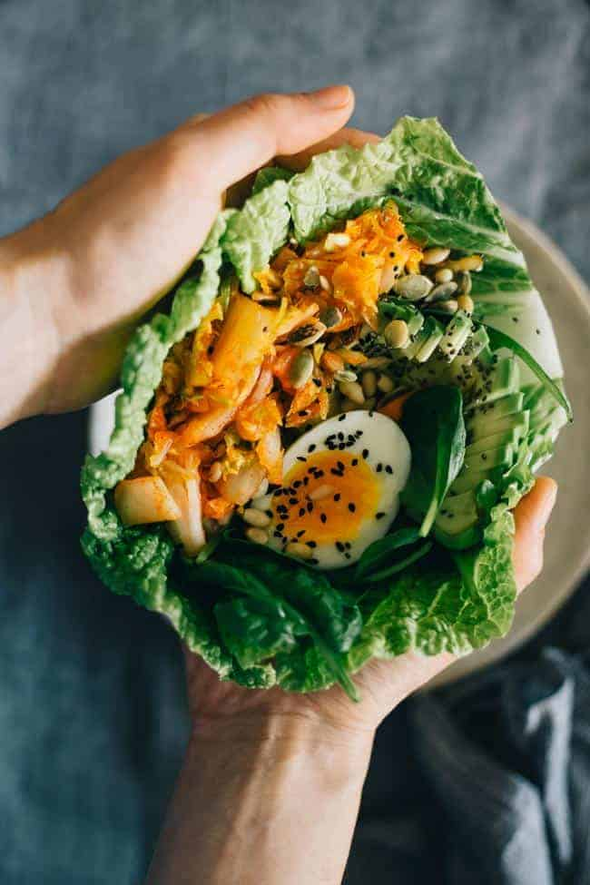How to make Kimchi Lunch Wrap