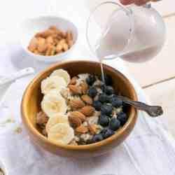 Big Batch Nut Butter Oatmeal Bowl