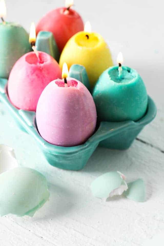 DIY Candles in Eggs
