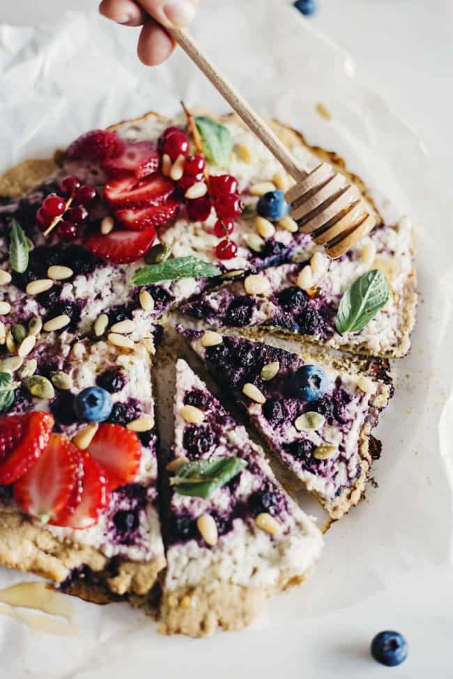 Berry Pizza Recipe with Chickpea Crust