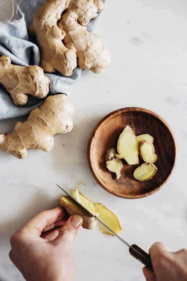 Ginger Inside + Out | Belly-Soothing Lemonade + Ginger-Infused Hair Oil