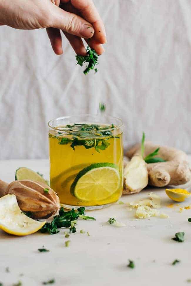 Belly-Soothing Ginger Lemonade
