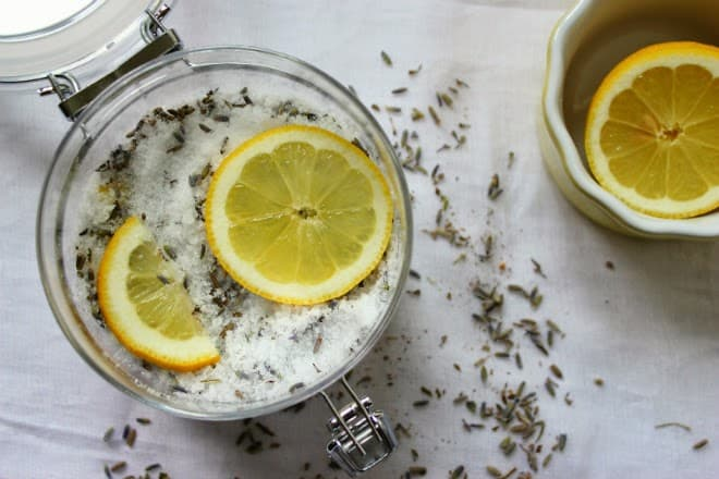 Lavender & Cyprus Foot Soak by The Candid Kitchen