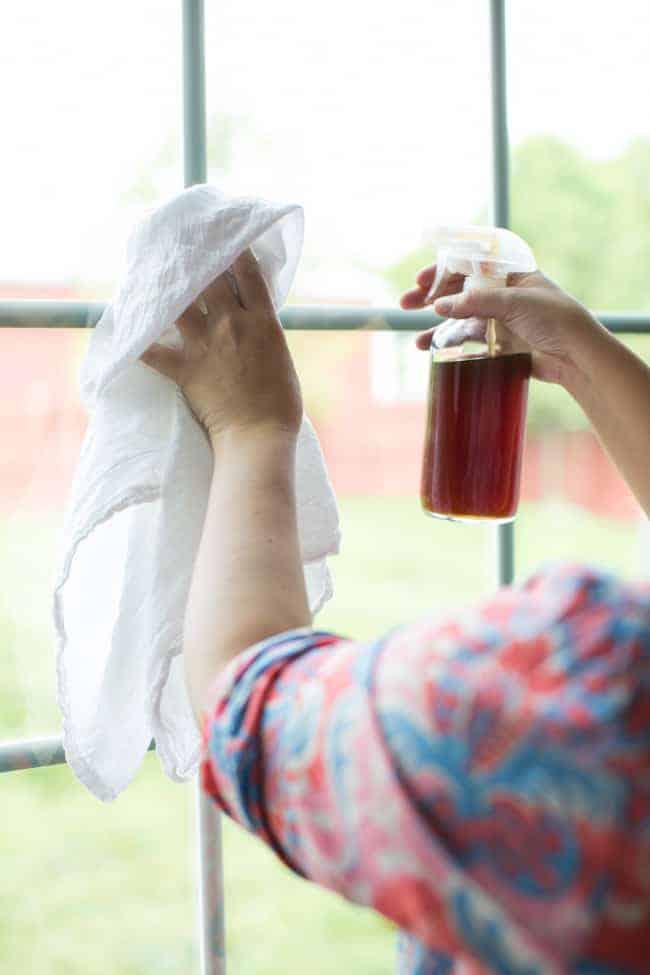 Black Tea Homemade Window Cleaner
