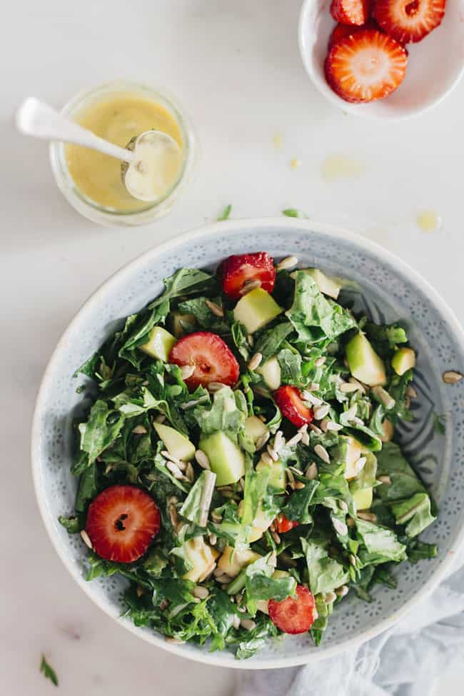 Simple Green Salad + 3 Homemade Salad Dressing Recipes