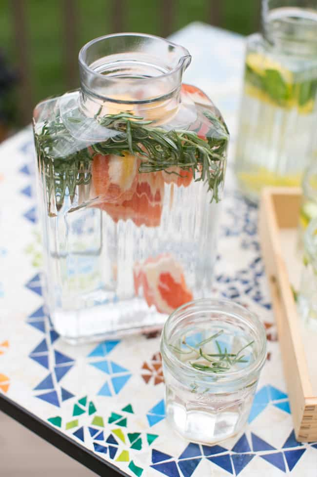 Rosemary Grapefruit Water | 3 Herb Infused Water Recipes