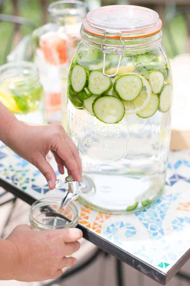 Cucumber Cilantro Water | 3 Herb Infused Water Recipes