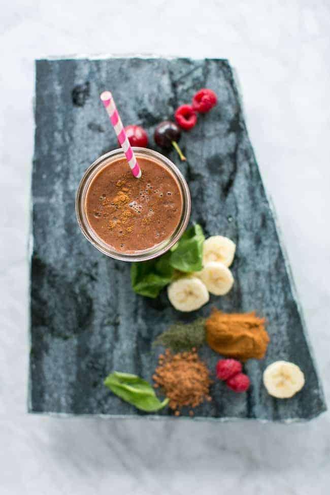 frullato ciliege e cioccolato
