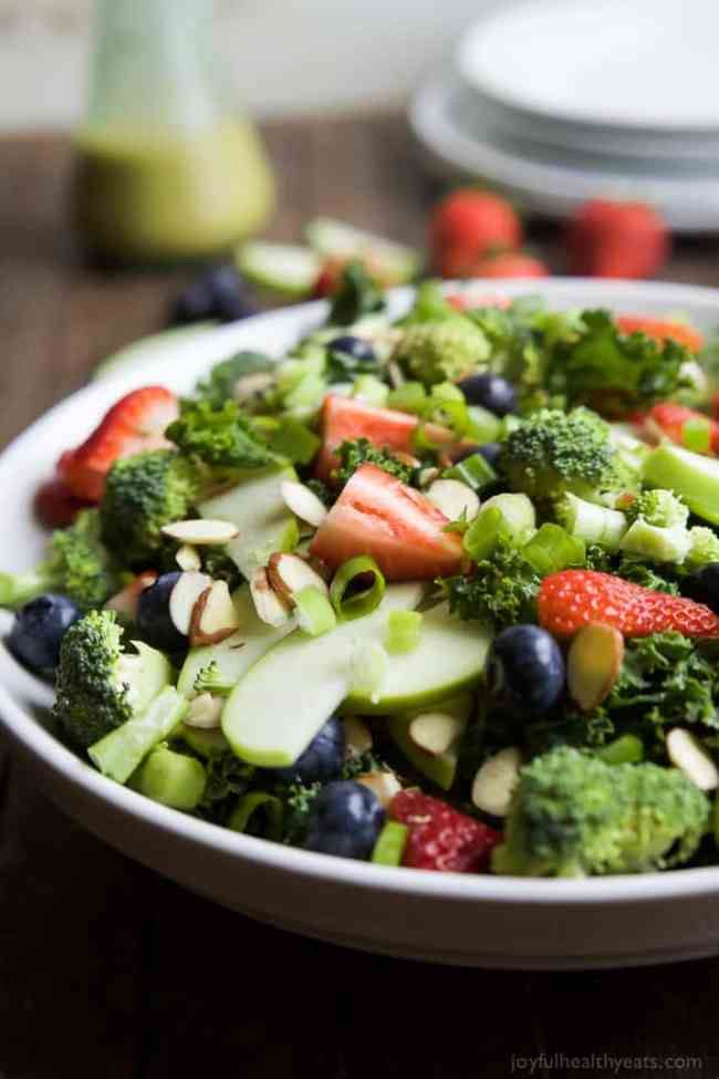 Summer Detox Salad with Citrus Basil Vinaigrette from Joyful Healthy Eats