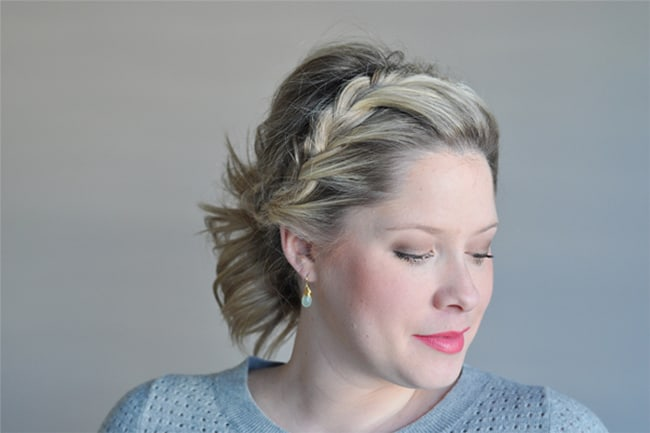 Half Braided Ponytail by The Small Things Blog   10 No Heat Hairstyles