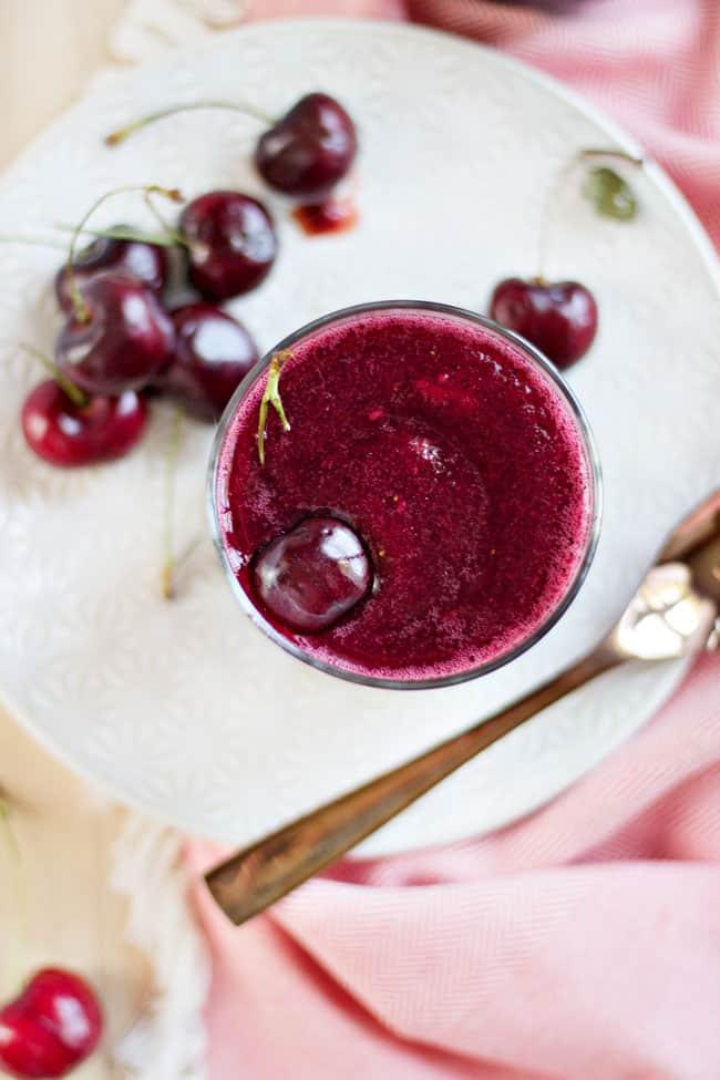 Tart Cherry Lime Wine Slushy