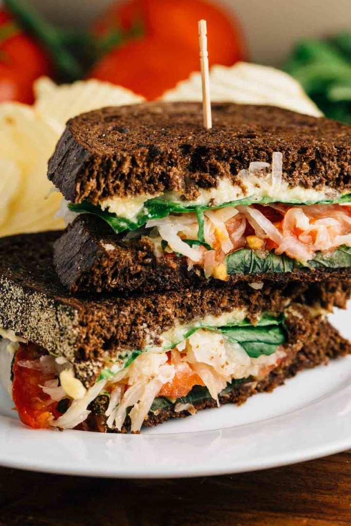 Veggie Reuben Sandwiches by Veggie Chick