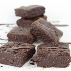 Raw Dark Chocolate Fudge Brownies