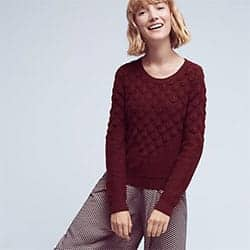 Anthropologie Scalloped Sweater