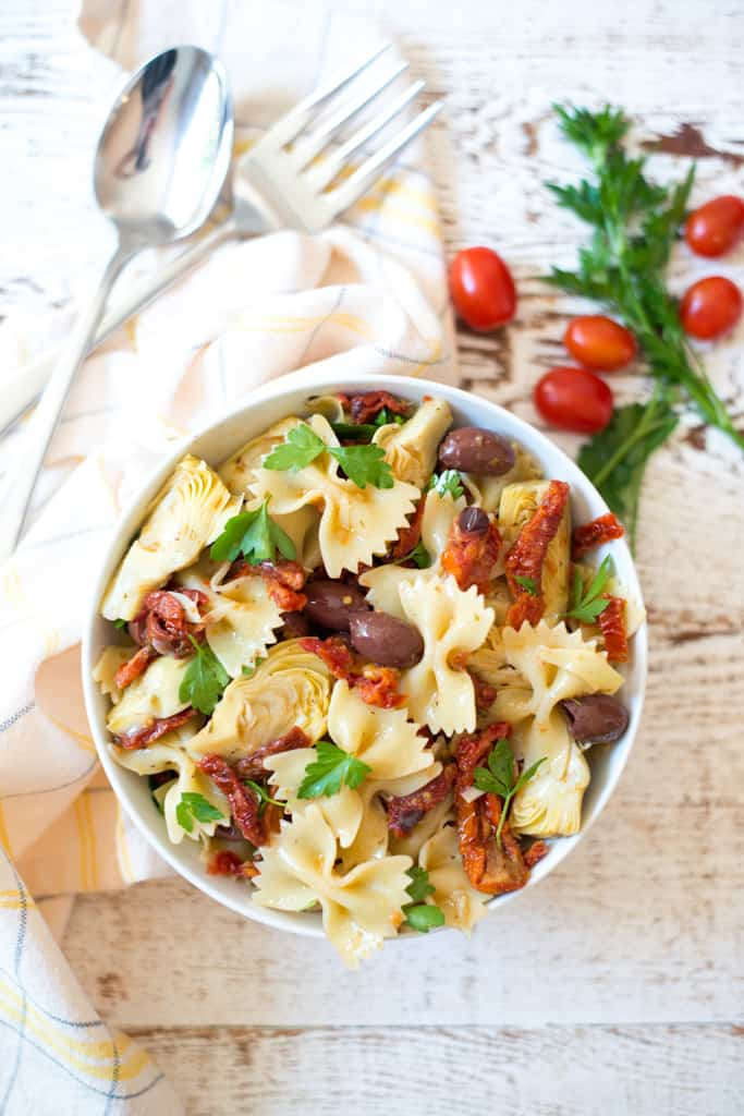 Mediterranean Pasta Salad by Real Food Whole Life