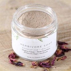 Herbivore Soap Cacao + Rose Organic Face Mask