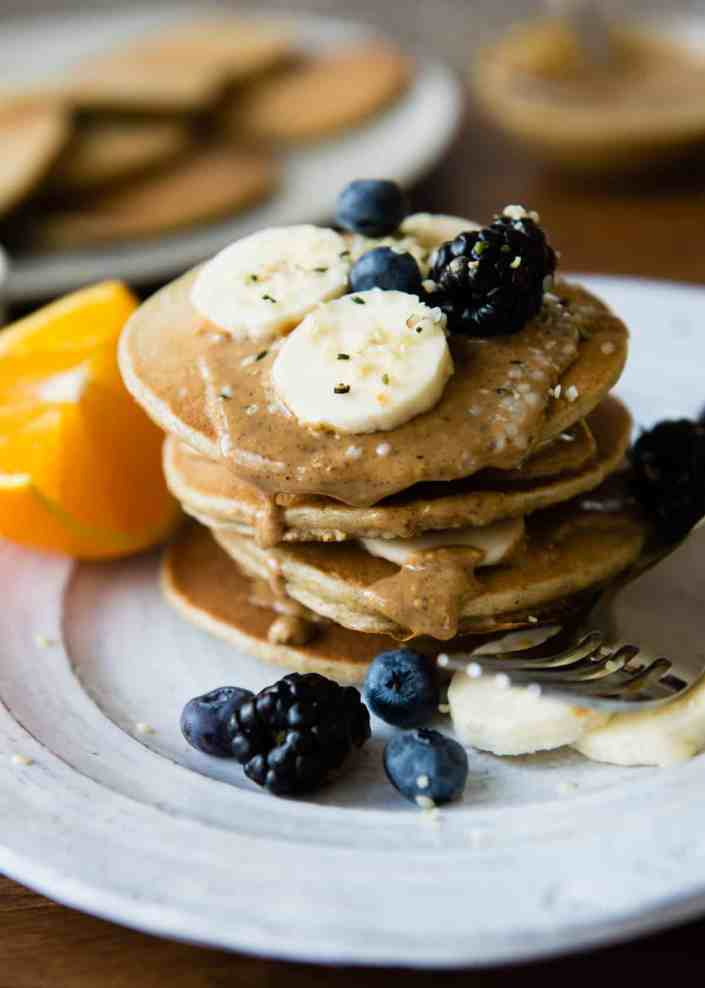 Blender Protein Pancakes   HelloGlow.co