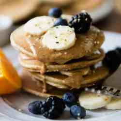 Quick + Easy Blender Protein Pancakes