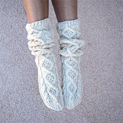 Slouchy knit socks