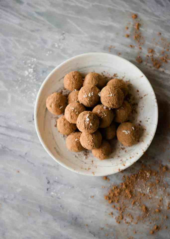 Raw Vegan Sea Salt Caramel Truffles