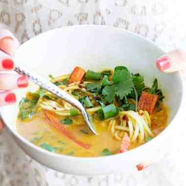 Nourishing Turmeric Curry Bowls with Zucchini Noodles
