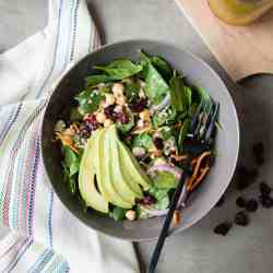 Spinach Salad with Ginger Cranberry Vinaigrette