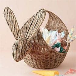 Rabbit Wicker Basket