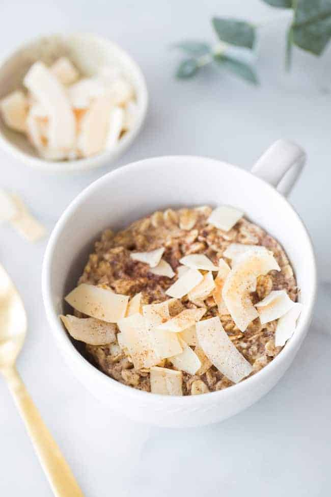 A Healthy 2-Minute Breakfast: Single-Serve Baked Coconut Oatmeal