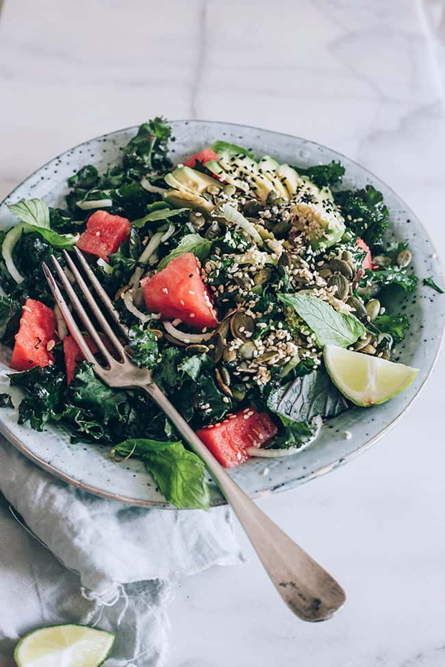 Ease PMS With This Kale Watermelon Salad