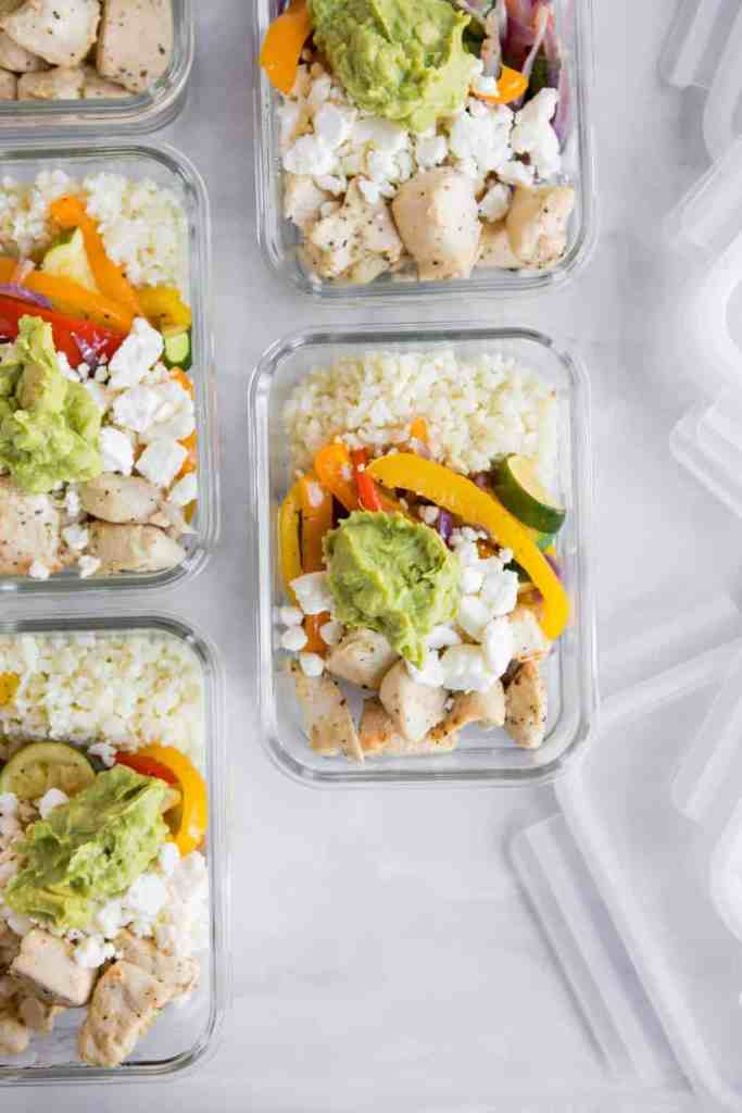 Roasted Veggie and Chicken Bowl Meal Prep