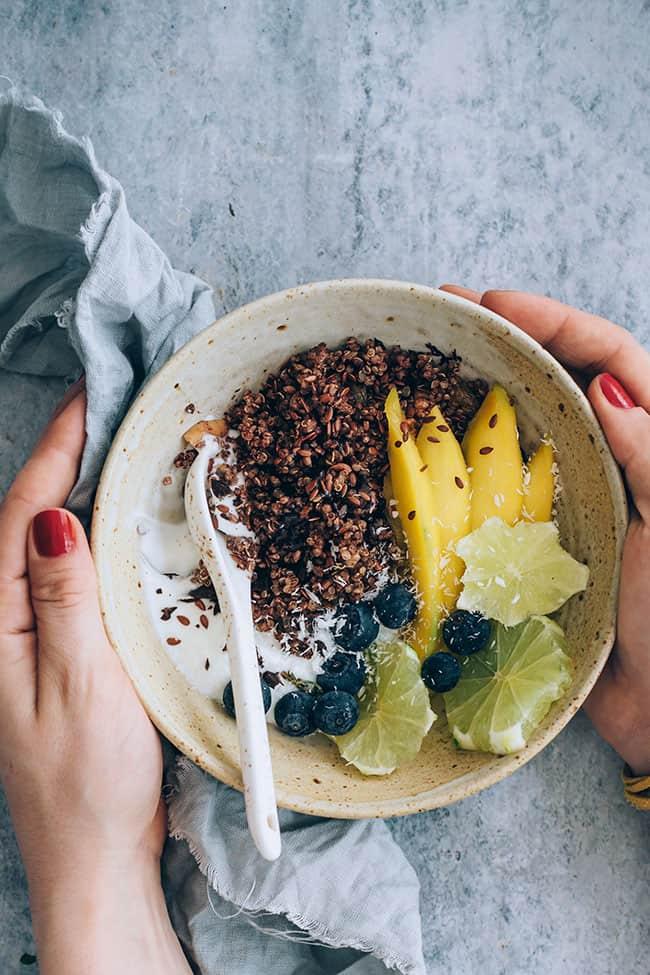 Beauty Boosting Chocolate Quinoa Breakfast Bowls