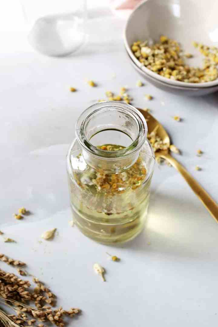 Unwind with This DIY Calming Chamomile Bath Oil