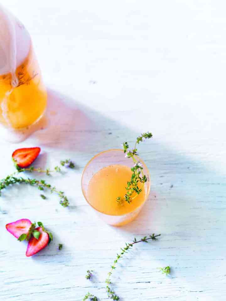 This Strawberry Thyme Water Kefir Is the Perfect Summer Probiotic Elixir
