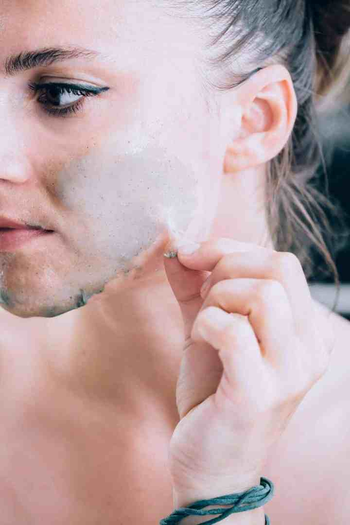 Rubber peel off mask