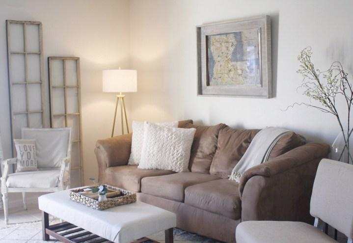 Rustic Coastal Living Room Restyle