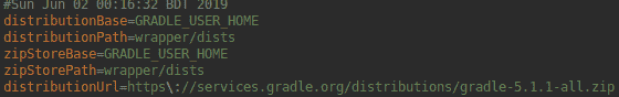 gradle wrapper properties
