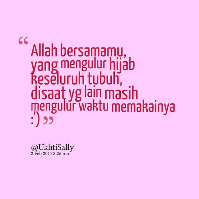 Quote Inspiratif Tentang Hijab  Ukhti Sally  Hello Hijabers