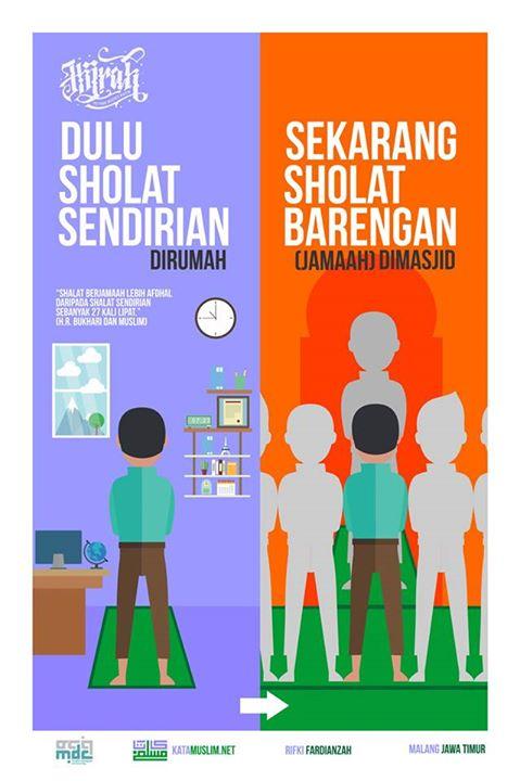 Poster Dakwah Bertema Dulu Dan Sekarang Karya Kata