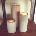 Concrete Candle Holders Industrial Diy