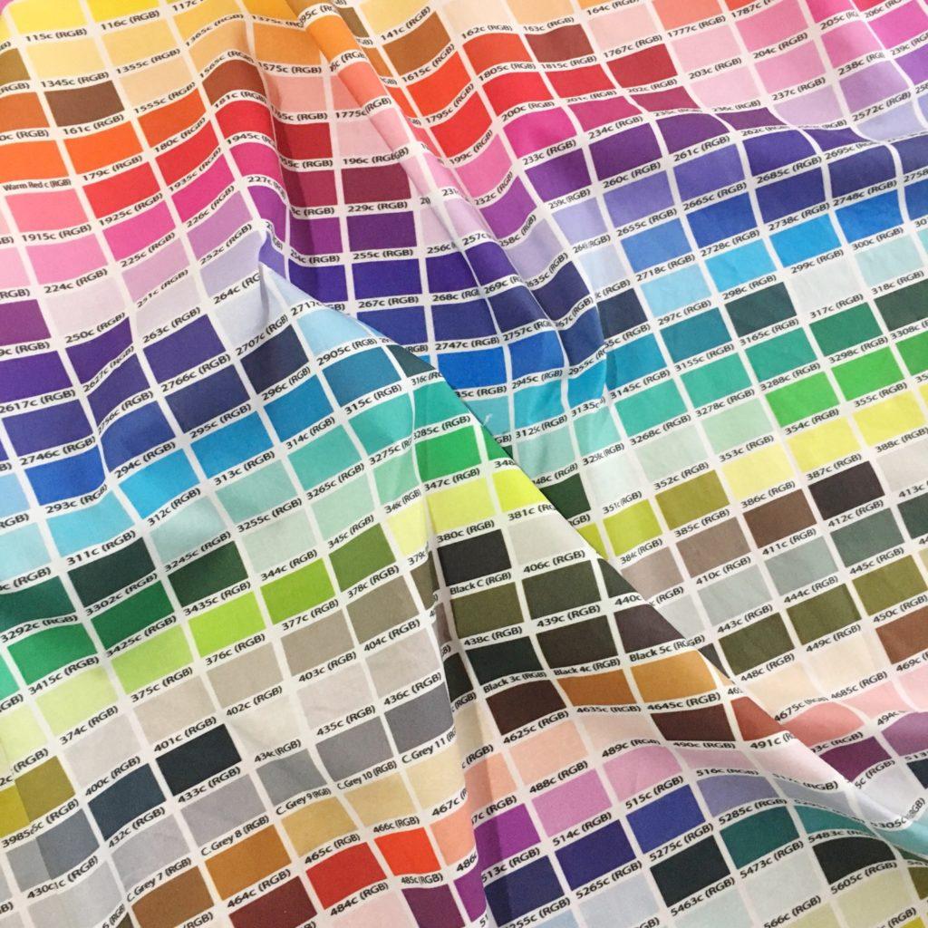 Pantone colour chart curtains  Hello Hooray