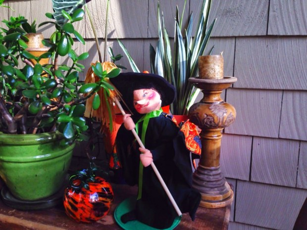 My little witch on my back terrace www.roomsrevamped.com