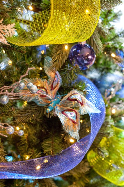 Butterfly Christmas decorations roomsrevamped.com