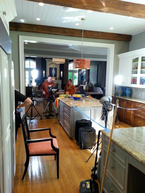 TV crews filming at the 2015 Atlanta Decorator's Show House