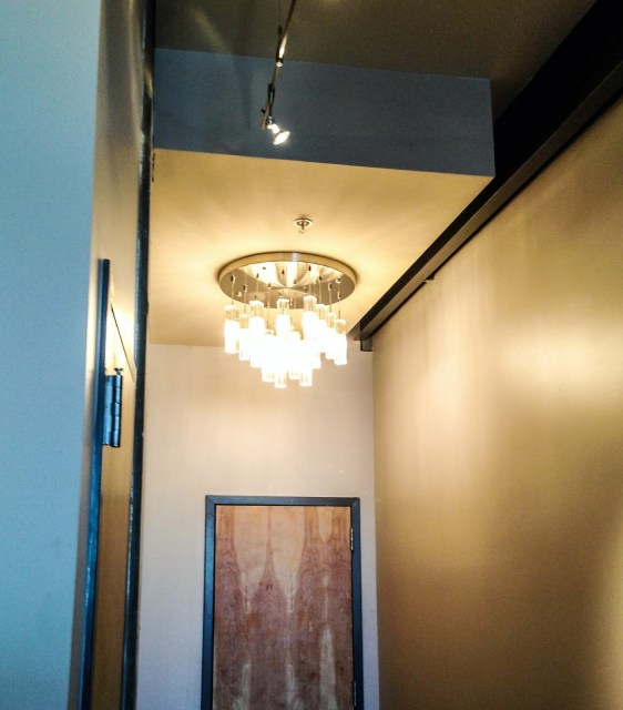 Custom designed modern light by Robin LaMonte/Rooms Revamped Interior Design