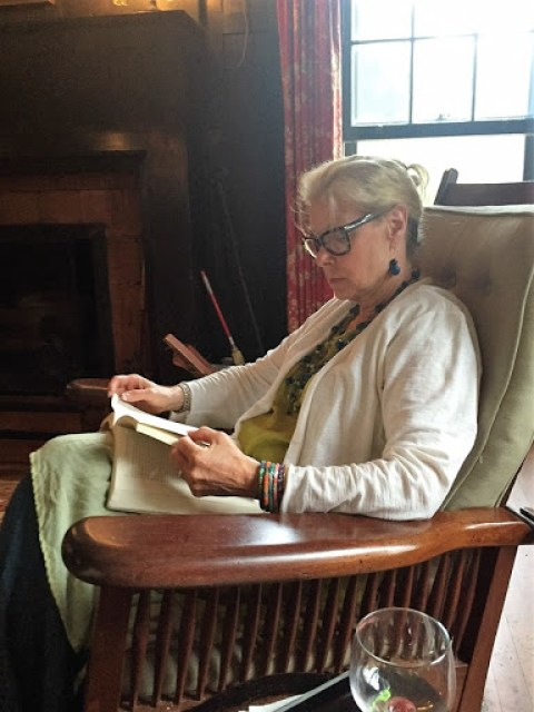 Robin Lamonte in the living room at the Greyfield Inn.