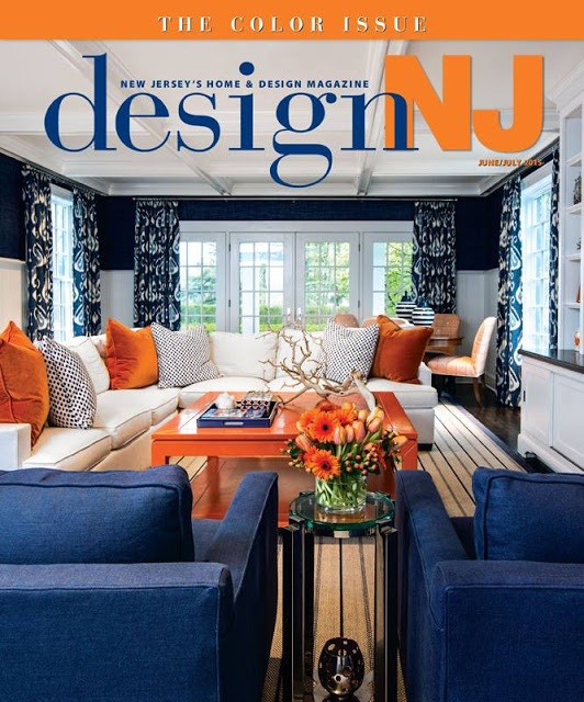 I Was Featured In The 2015 June July Issue Of Design NJ But This Livingroom Is A Perfect Example Blue Orange Complementary Color Scheme By Patricia