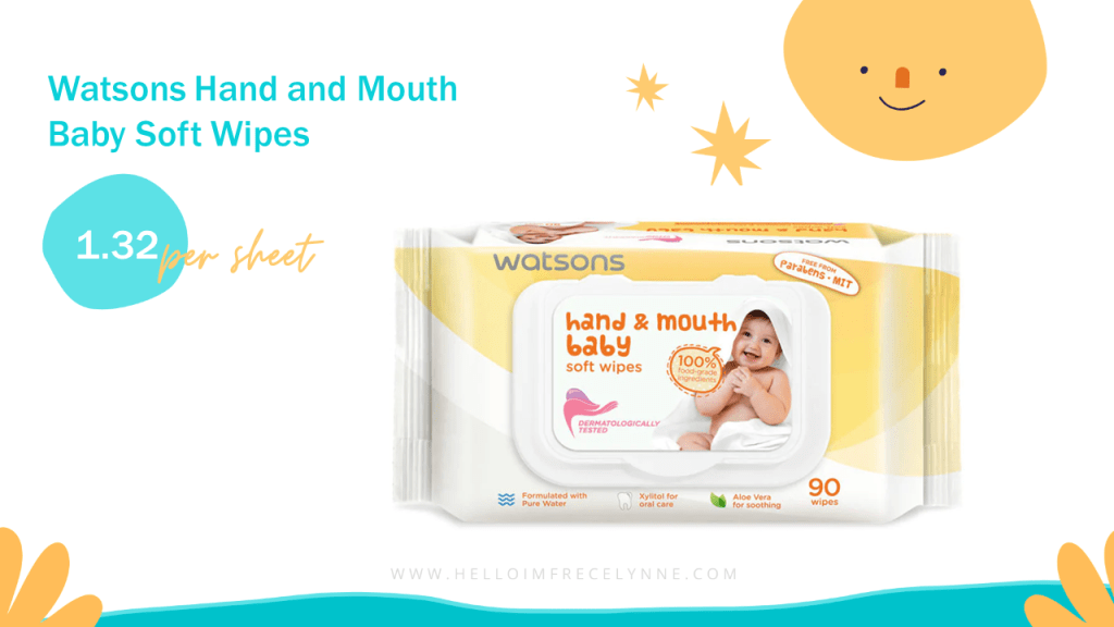 Watsons Hand and Mouth Baby Soft Wipes