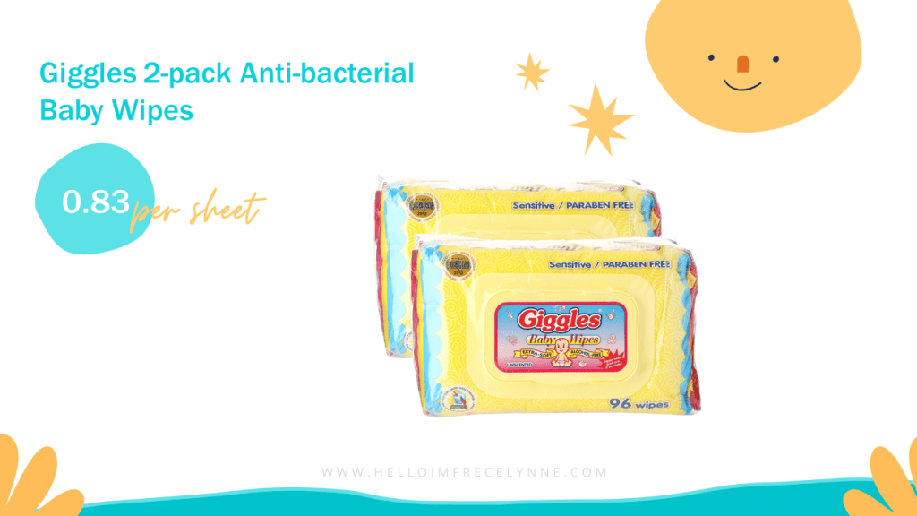 Giggles 2-pack Anti-bacterial Baby Wipes